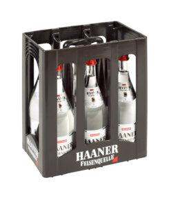 44_Haaner Felsenquelle Kasten 1L Glas fein-perlend