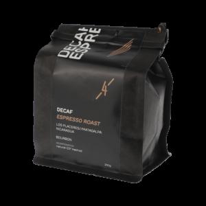 44_Rösterei Vier Decaf Espresso gemahlen 250g Packung