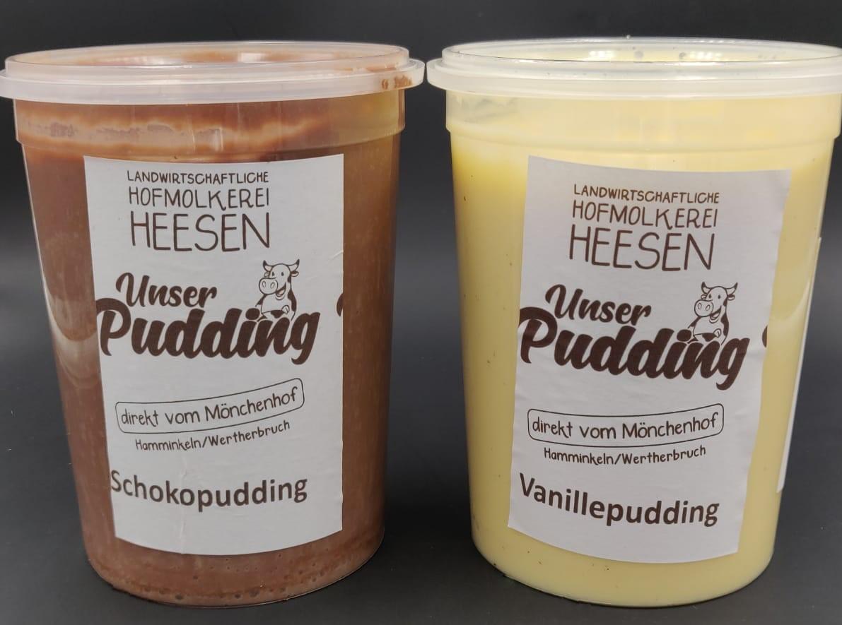 Neu im Sortiment: Pudding vom Mönchenhof