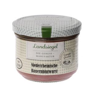 Landsiegel Metzgerei Komp Niederrh. Bauernblutwurst 200g